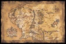 """The Lord of The Rings Movie Poster Print Map of Middle Earth 36""""x24' (Unframed)"""