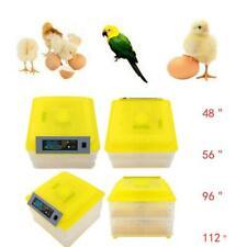 New 48/56/96/112 Egg Incubator Duck Bird Temperature Control Automatic Turning