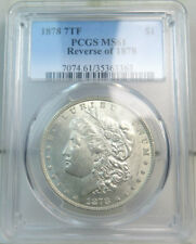 1878 7tf rev'78 Morgan dollar PCGS MS61 *VAM 143 doubled LIBERTY-tough in UNC!*