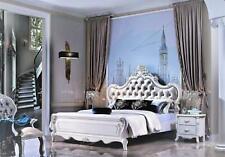 Klassisches Bett Doppelbett Bett 2x Nachttische Holz Design Betten Neu 3 tlg.Set