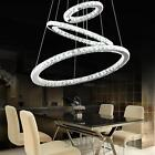 LED Crystal Round Ring Pendant Light Chandelier Lamp Ceiling Fixture Home Decor