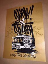 OG SLICK X STUSSY SF SAN FRANCISCO THREAT SCREEN PRINT GRAFFITI Shepard Fairey