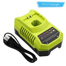 P117 Charger for Ryobi 18V 14.4V 12V 9.6V Li-ion NiCD NiMH Battery One+P100 P108