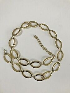 Vintage Retro Gold Tone Chunky Metal Chain Link Belt Women's Made In Italy