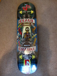 NOS Claus Grabke Skateboard Pocket Pistols 2007 time machine deck