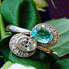 Ring PARAIBA TURMALIN geprüft 0.56 ct Diamant 0.41 ct PLATIN SW ca. 7.022.-EURO