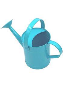 Children's Sky Blue Metal Watering Can (22cm) - Holds 1.3 L  OUTDOOR Garden Kids