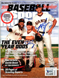 MADISON BUMGARNER & POSEY AUTOGRAPHED SIGNED SPORTS ILLUSTRATED BECKETT 119631