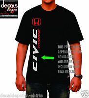 Custom Shirt for HONDA Car Owners Accord, Civic, Pilot, Element, CR-V and more