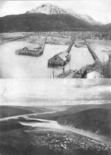 ALASKA. Alaska 1 City of Skagway; 2 City of Dawson 1907 old antique print