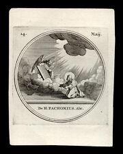 HL.PACHOMIUS ABT.  Kupferstich  18. Jh.