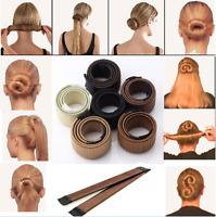 Fashion Hot Hair Styling Donut Former Foam French Twist Magic DIY Tool Bun Maker