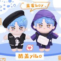 The Untamed 王一博 Wang Yibo 20cm Star Plush Doll Clothing Toy Fashion Blue Hair