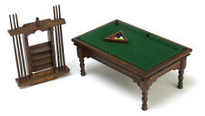 Dolls House 12th scale Pool table set   Walnut T6676