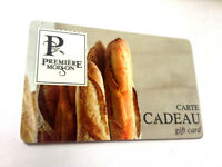 "PREMIER MOISSON GIFT CARD "" Baguette"" NO VALUE NEW RECHARGEABLE (ship rightaway)"