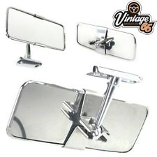 Classic Car Rectangular Stainless Steel Rear View Interior Mirror Screw Fitting