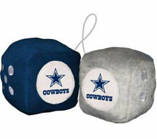 Dallas Cowboys Fuzzy Dice Mirror Dangle FAST USA SHIPPING
