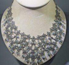 Baroque Crystal Bold Statement Necklace Antique Neiman Marcus Fine Jewlery $980
