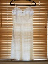 Vintage Lucie Ann Beautifully Embossed Off White Full Slip w/Lace Trim. Sz. 34