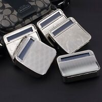 Metal Automatic Cigarette Tobacco Roller Roll Rolling Machine Box Case Tin 2V