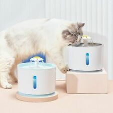 Cat Drinking Fountain Water Bowl Dogs Pet Dispenser Automatic Electric USB