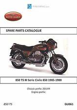Moto Guzzi parts manual book 850 T5 III Serie Civile 850 1985, 1986, 1987 & 1988