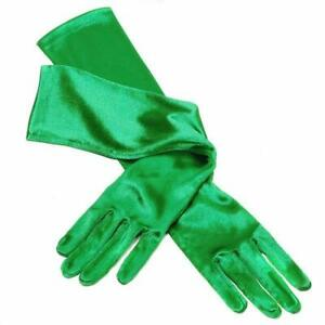 Deluxe Emerald Green Satin Gloves Extra Long Length  Opera  Showgirl  1920s