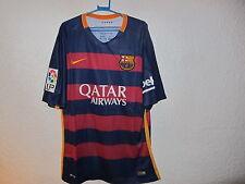 FC BARCELONA JERSEY FCB NIKE DRI-FIT SOCCER VTG Shirt Football Futbol MENS L NWT