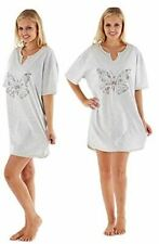 Ladies 100% Cotton Night Shirt with Butterfly Print. Super Soft and Cosy
