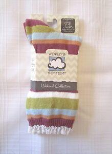 World's Softest Socks - Weekend Collection - Jazz Crew - Felicity Stripe - NEW