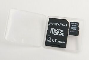 PNY 2 GB mirco SD with adapter NOT HC fits earlier units that can not use HC