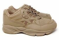 Propet Men's Stability Walker Lace Walking Sneakers Taupe Leather Size 9 5E(XX)