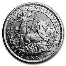 2017 Great Britain 2 Pounds 20th Ann. Chariot Britannia 1 oz .999 Silver Coin