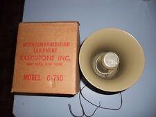 Vintage Intercommunicating Equipment Executone Model C-750 8 Ohm Horn Speaker