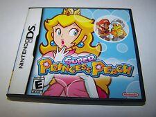 Super Princess Peach (Nintendo DS) Lite DSi XL 3DS 2DS w/Case & Manual