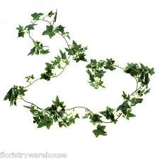 Seta Artificiale Ivy Garland 6 piedi verde / crema variegate piccole foglie foglia