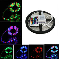 Flexible SMD 3528 5M RGB Colorful LED Strip Light 12V Car Tape Decoration+Remote