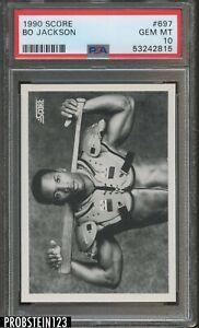 1990 Score Football #697 Bo Jackson Raiders PSA 10 GEM MINT