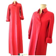 BCBG Max Azria Wool Maxi Jacket Size Small 4 Red Dress Duster Coat Business