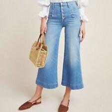 Mother Denim The Swooner Roller Yoke Front Crop jeans Post No Bills Size 24