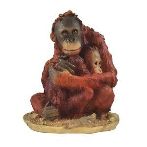 Orang Utan mit Baby Borneo Regenwald Affe Affen Sammlerfigur Figur Deko MC5157