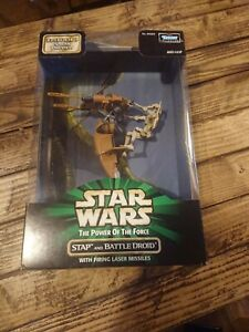 Star Wars Power Of The Force STAP And Battle Droid Episode 1 Sneak Preview Bnib