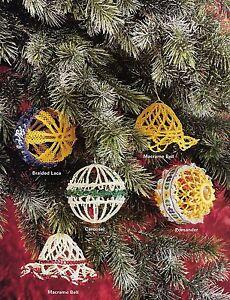 DIY Macrame Christmas Ornaments Patterns Holiday Knick-Knots Craft Book MM411