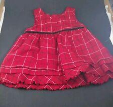 Oshkosh girls red plaid dress size L(6/9)