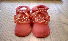 Bebé Recién Nacido Niñas Rojas Cochecito Calcetines Talla 0-4 meses Totalmente Nuevo