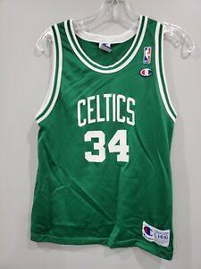 Rare Vintage 90s Champion NBA Boston Celtics Paul Pierce 34 Jersey Youth L 14-16