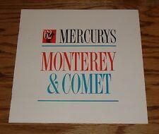 Original 1962 Mercury Monterey & Comet Sales Brochure 62