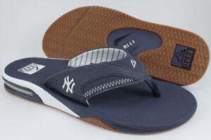 REEF FANNING X MLB NEW YORK YANKEES NAVY BLUE/WHITE FLIP FLOPS THONG SANDALS MEN