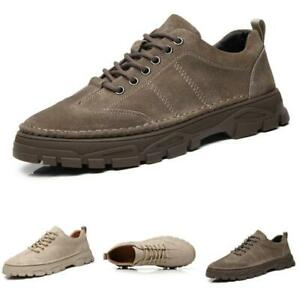 Mens Faux Leather Leisure Sneakers Shoes Outdoor Running Sports Gym Fitness 44 L