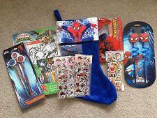 Spiderman Navidad Stocking Relleno con fantásticas Regalos enorme paquete de gran valor